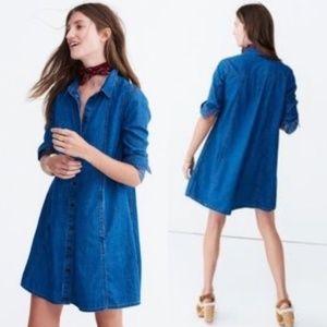 Madewell Denim A-Line Shirt Dress
